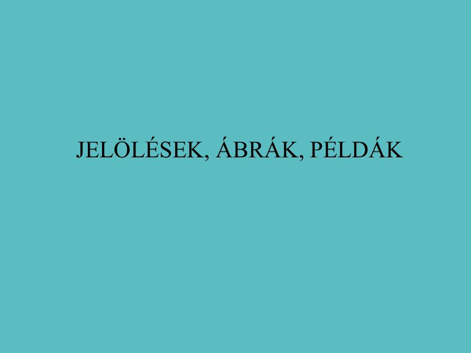 JELÖLÉSEK, ÁBRÁK, PÉLDÁK