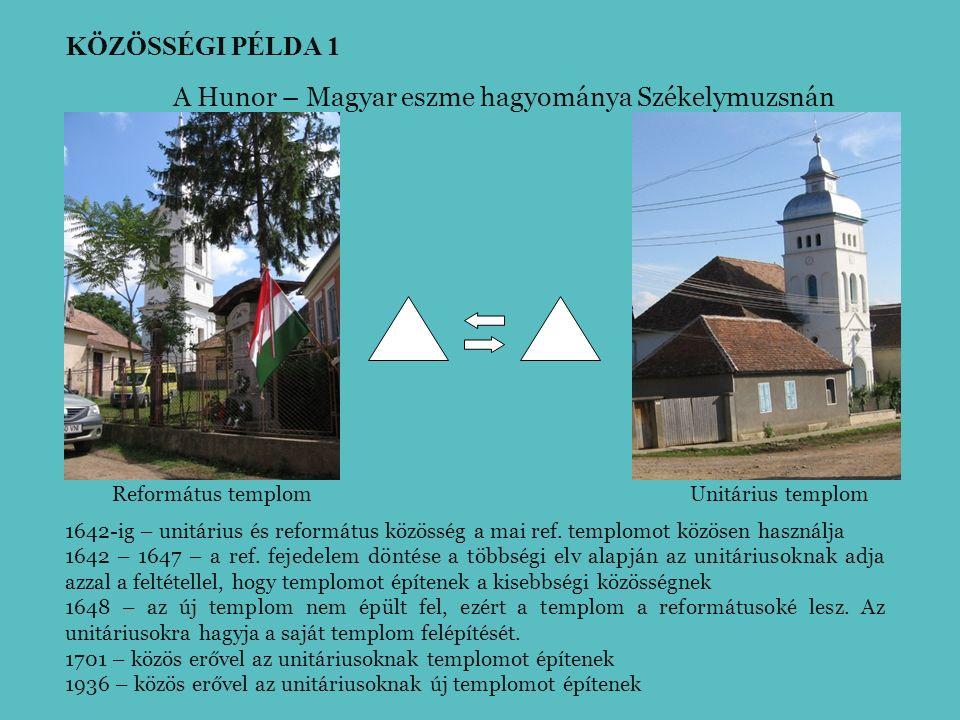 Református templomUnitárius templom A Hunor – Magyar eszme hagyománya Székelymuzsnán 1642-ig – unitárius és református közösség a mai ref.