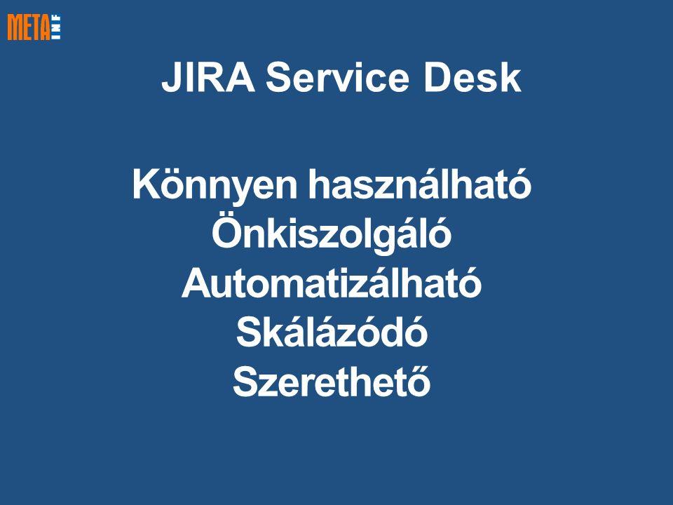 JIRA Service Desk Könnyen használható Önkiszolgáló Automatizálható Skálázódó Szerethető