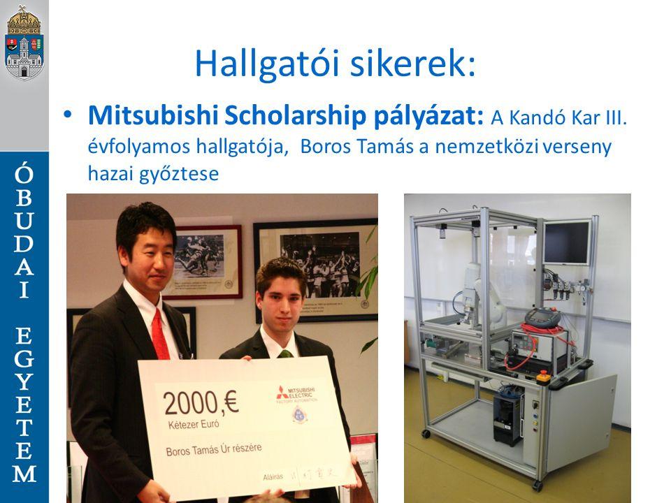 Hallgatói sikerek: Mitsubishi Scholarship pályázat: A Kandó Kar III.