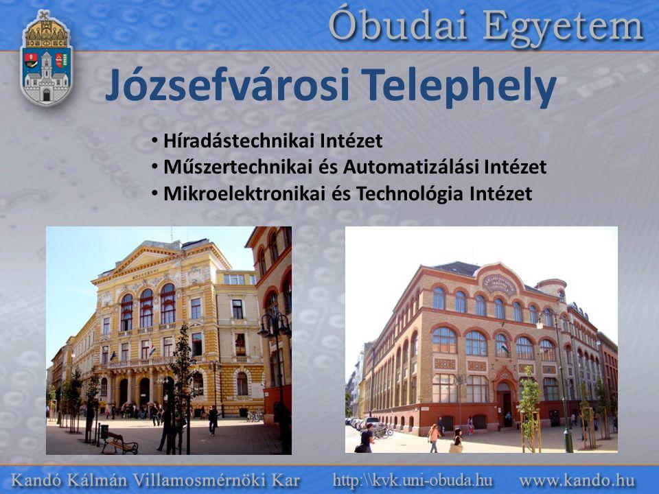 Józsefvárosi Telephely Híradástechnikai Intézet Műszertechnikai és Automatizálási Intézet Mikroelektronikai és Technológia Intézet