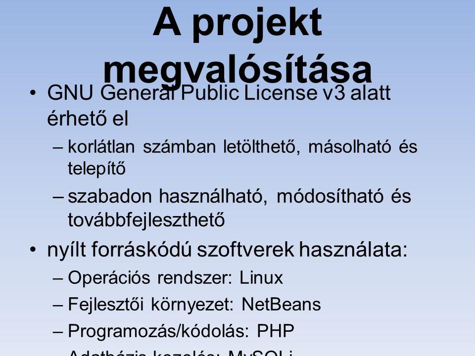 Az adattáblák adminisztrációja - phpMyAdmin