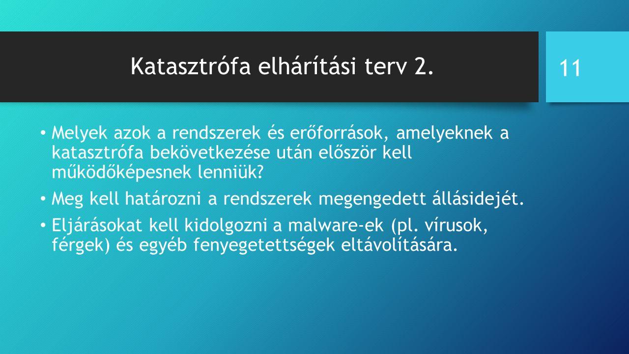Katasztrófa elhárítási terv 2.