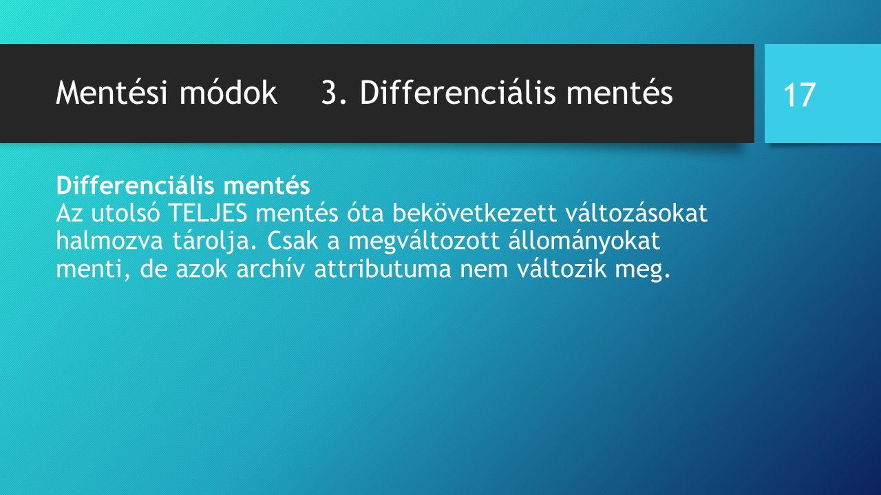 Mentési módok3.