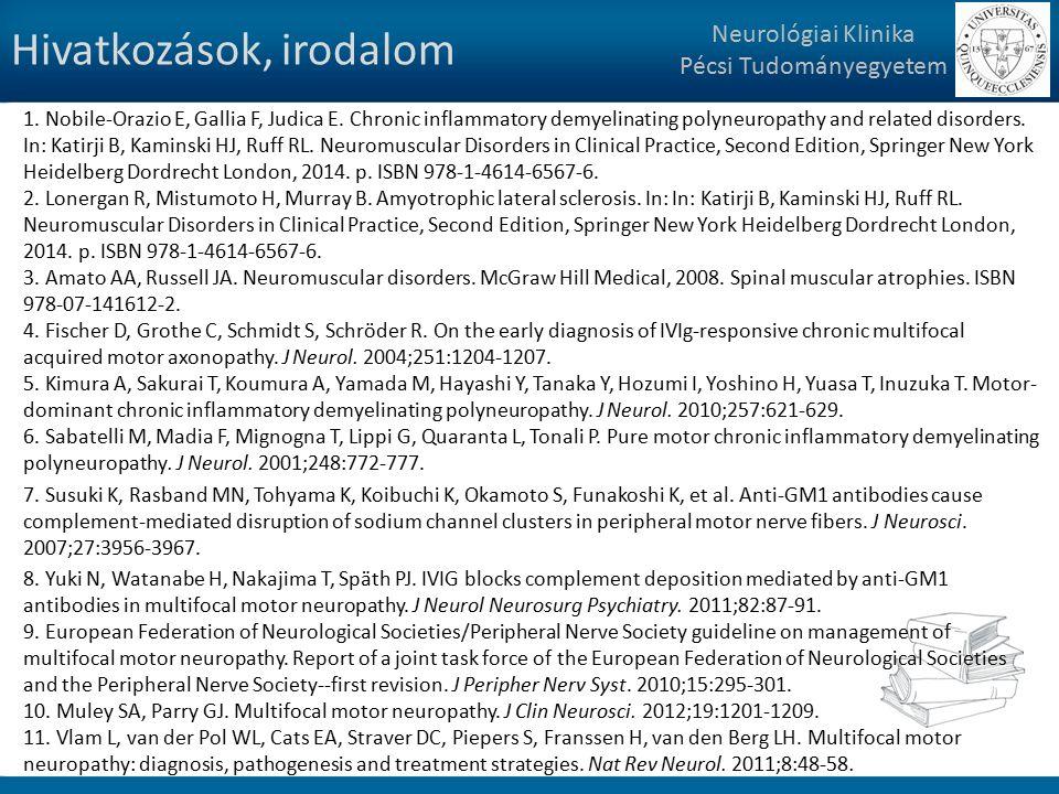 Hivatkozások, irodalom Neurológiai Klinika Pécsi Tudományegyetem 1.