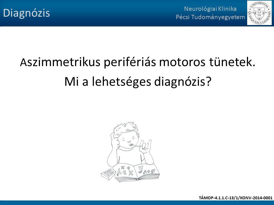 A szimmetrikus perifériás motoros tünetek. Mi a lehetséges diagnózis.