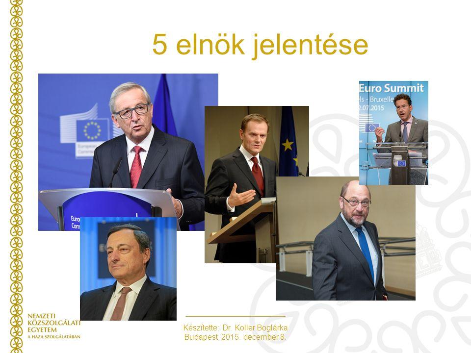Készítette: Dr. Koller Boglárka Budapest, 2015. december 8. 5 elnök jelentése