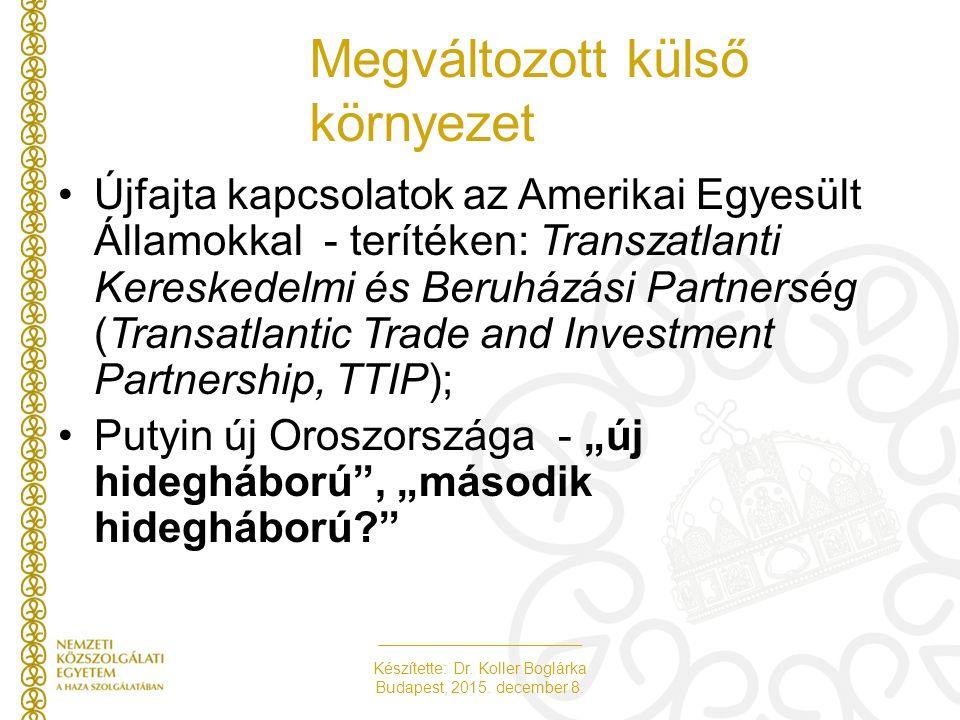Készítette: Dr. Koller Boglárka Budapest, 2015. december 8. Új intézményi munkamegosztás