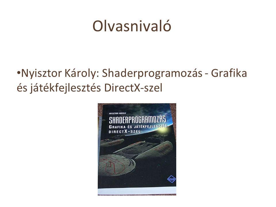 Olvasnivaló Nyisztor Károly: Shaderprogramozás - Grafika és játékfejlesztés DirectX-szel