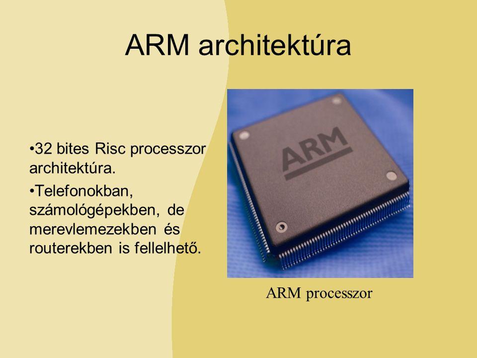 ARM architektúra 32 bites Risc processzor architektúra.