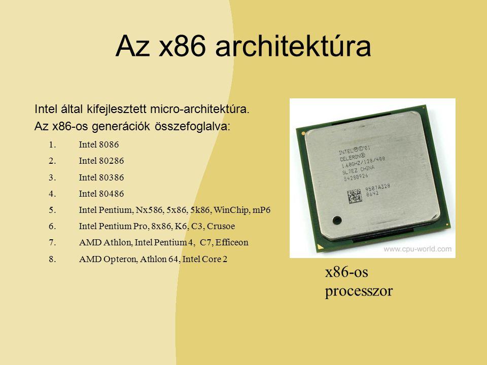 Az x86 architektúra Intel által kifejlesztett micro-architektúra.
