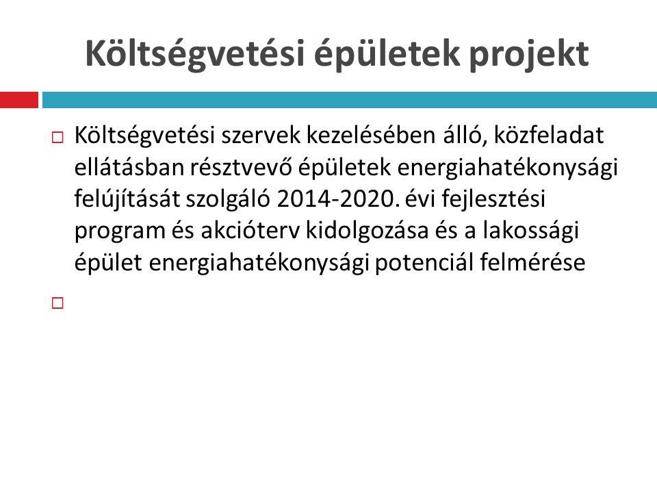 Költségvetési épületek projekt  Költségvetési szervek kezelésében álló, közfeladat ellátásban résztvevő épületek energiahatékonysági felújítását szolgáló 2014-2020.