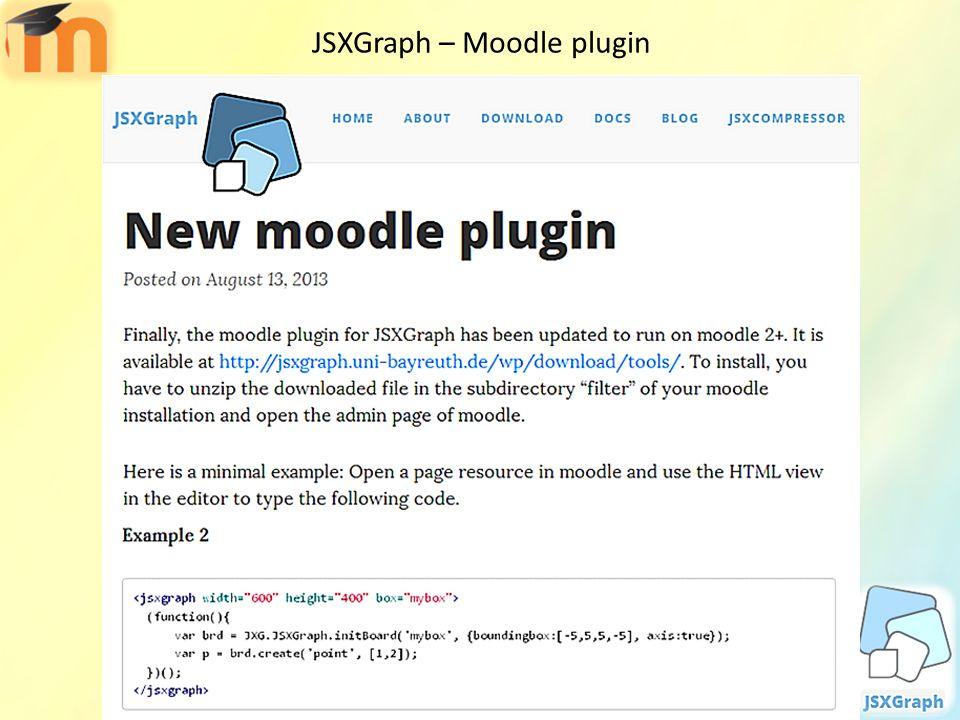 JSXGraph – Moodle plugin