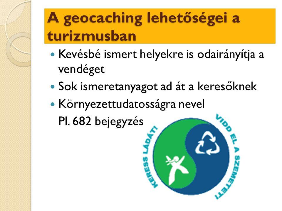 Kevésbé ismert helyekre is odairányítja a vendéget Sok ismeretanyagot ad át a keresőknek Környezettudatosságra nevel Pl.