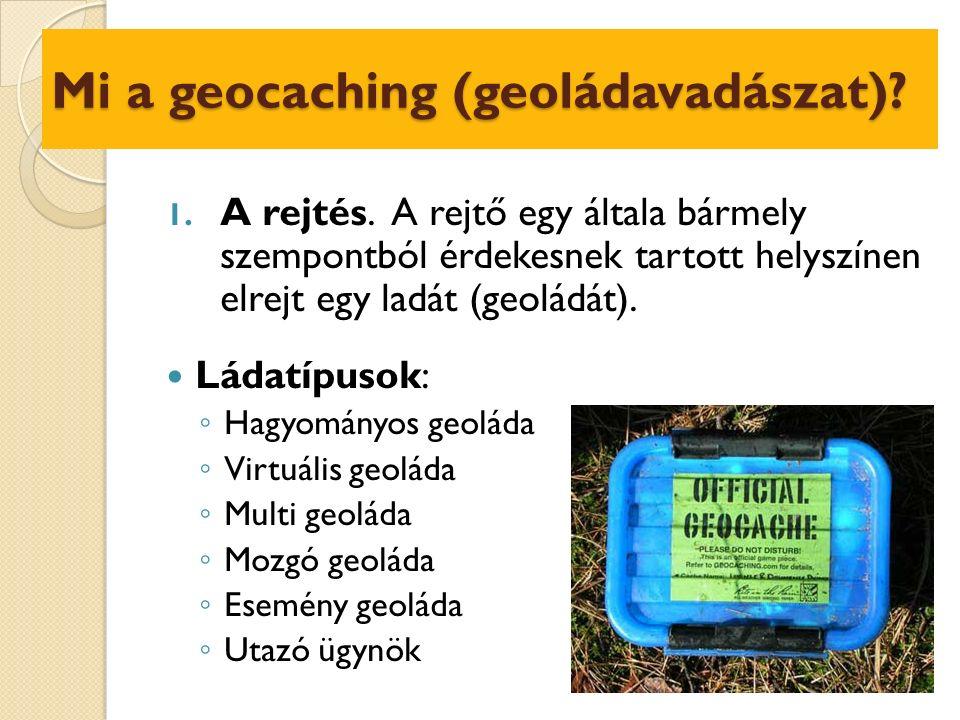 A geoládák közzététele II.