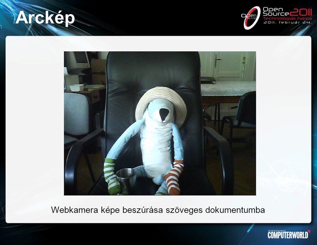 Arckép Webkamera képe beszúrása szöveges dokumentumba