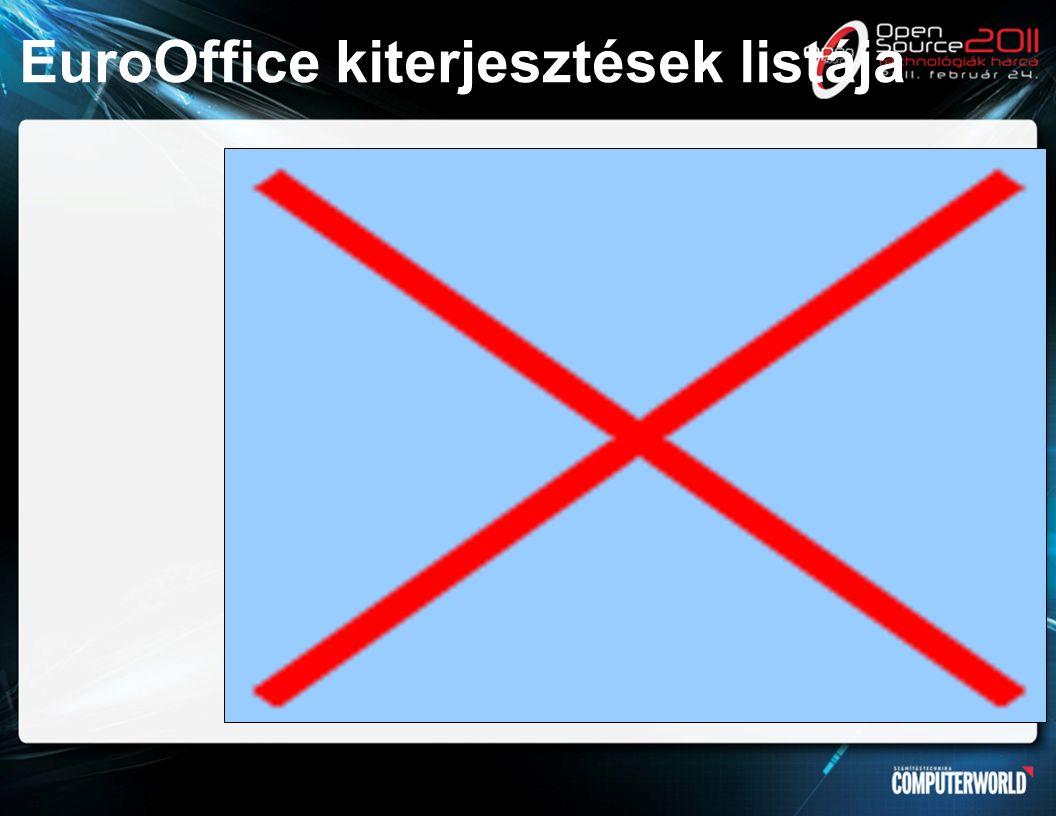 EuroOffice kiterjesztések listája