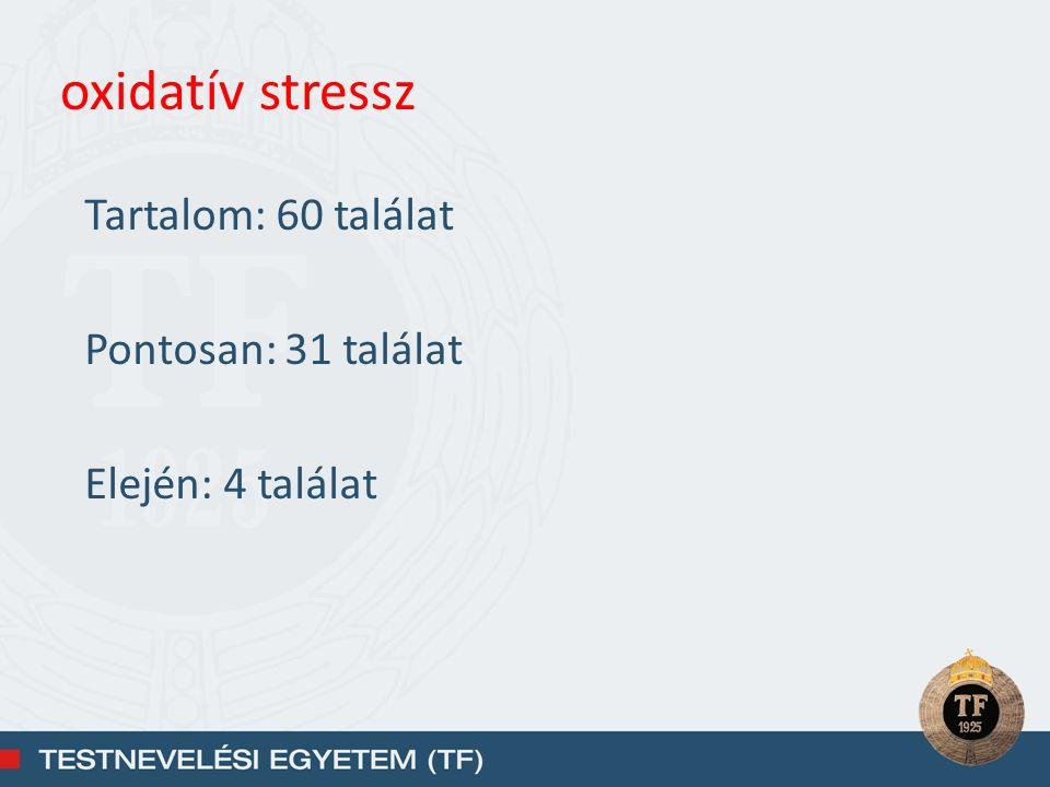 oxidatív stressz Tartalom: 60 találat Pontosan: 31 találat Elején: 4 találat