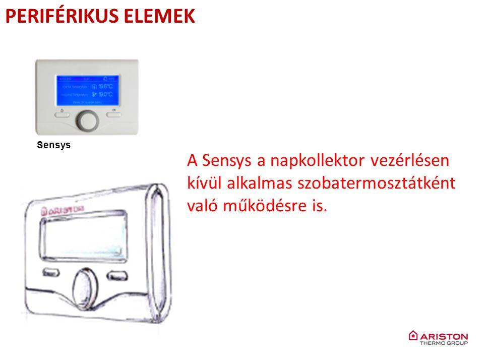 PERIFÉRIKUS ELEMEK Sensys A Sensys a napkollektor vezérlésen kívül alkalmas szobatermosztátként való működésre is.