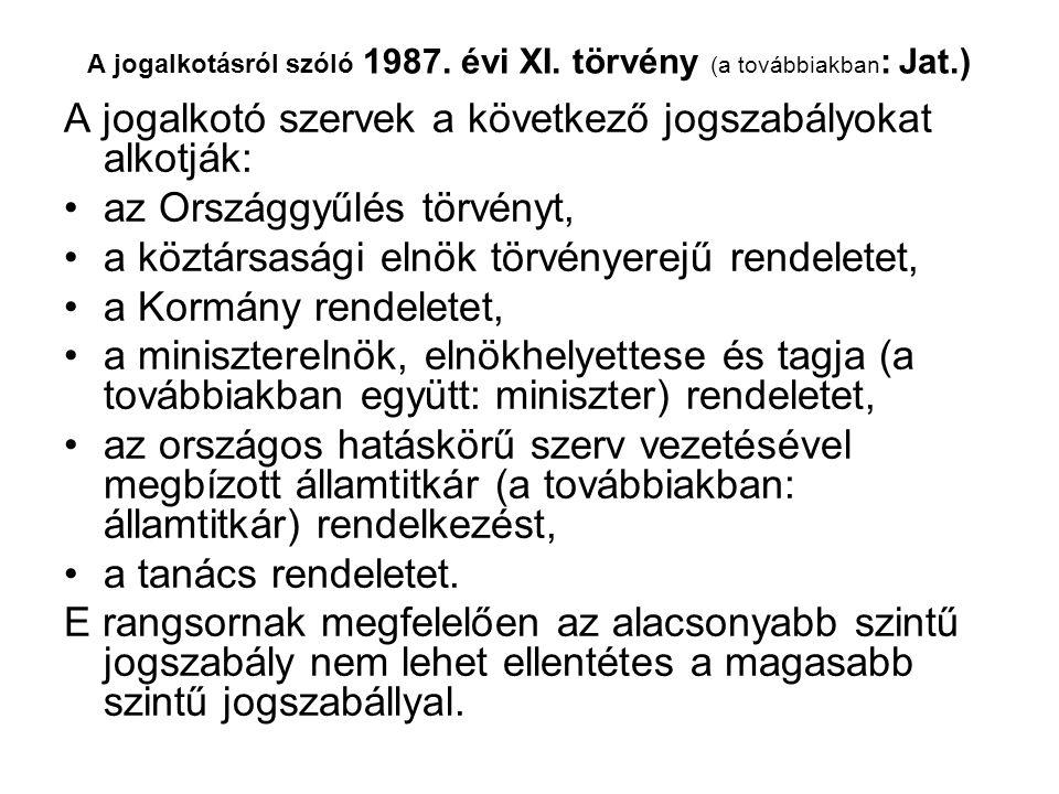 A jogalkotásról szóló 1987. évi XI.