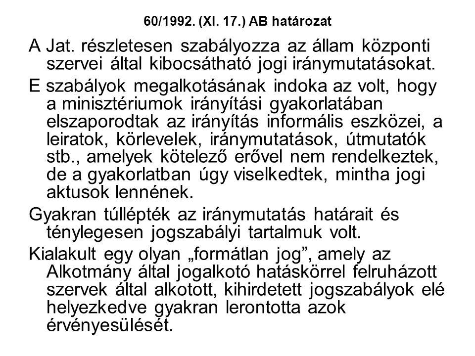 60/1992. (XI. 17.) AB határozat A Jat.