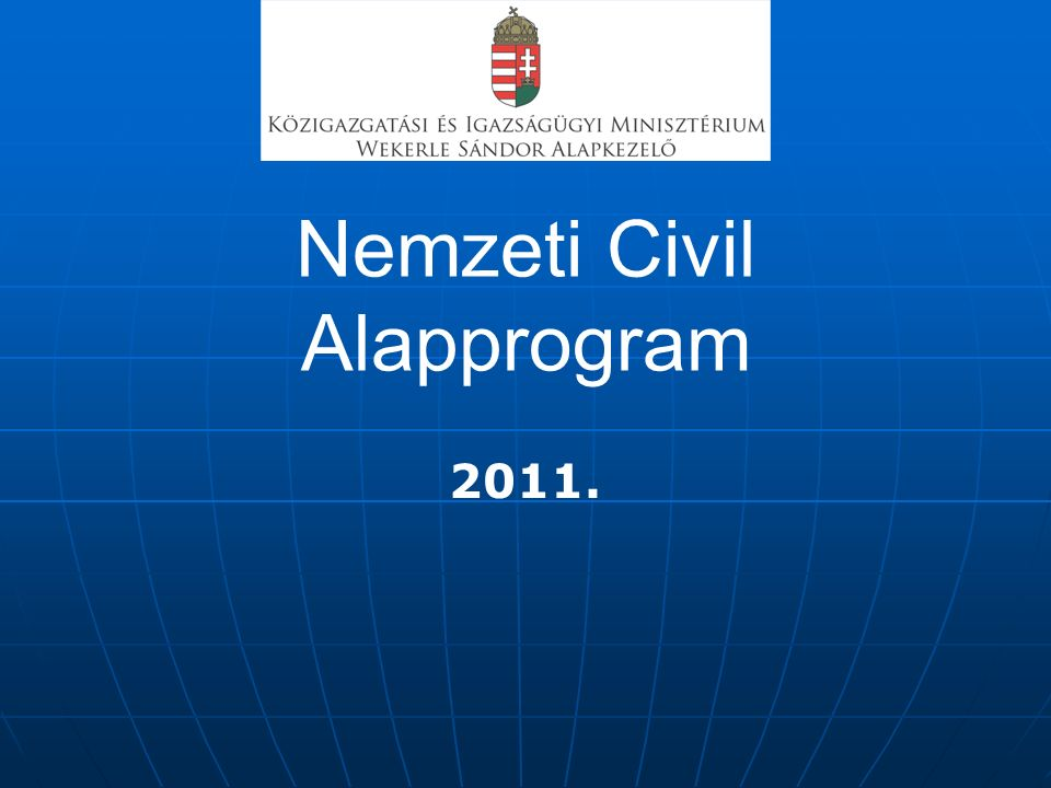 Nemzeti Civil Alapprogram 2011.