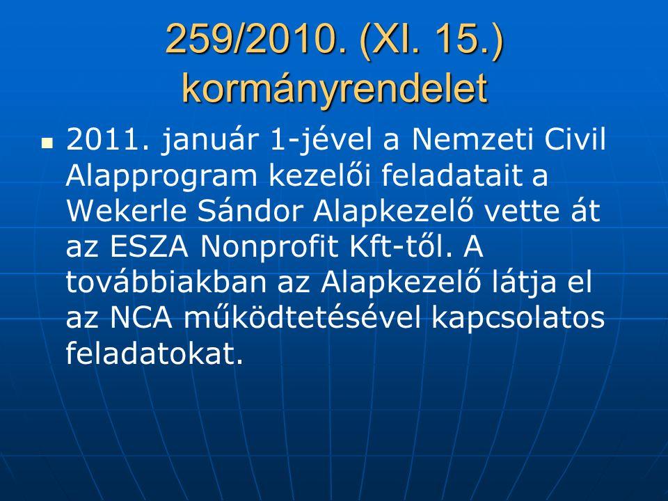 259/2010.(XI. 15.) kormányrendelet 2011.