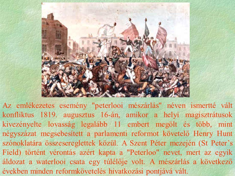 """Választójogi reform  Polgári állam  erős a független tulajdon  erős a """"középosztály ,  de a proletariátus  erős Harc a választójogért  1832 1."""