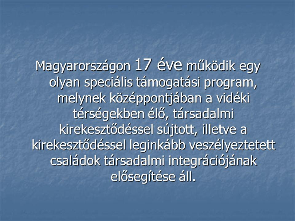 Magyarországon 17 éve működik egy olyan speciális támogatási program, melynek középpontjában a vidéki térségekben élő, társadalmi kirekesztődéssel súj