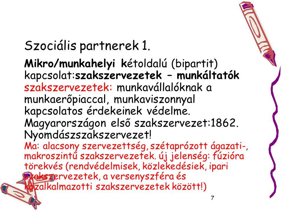 Szociális partnerek 1.