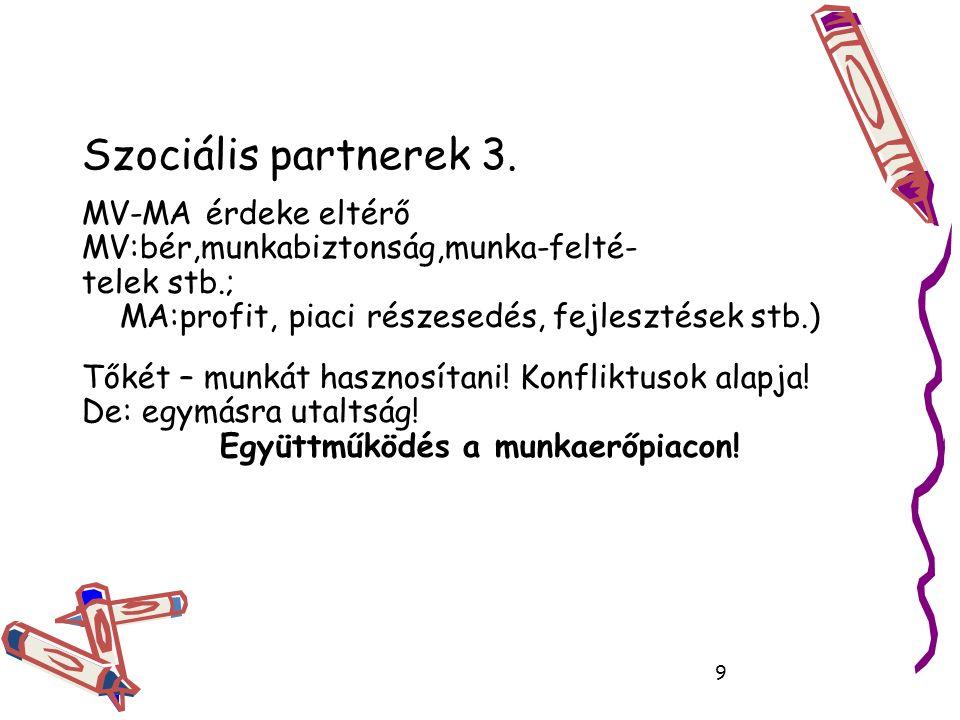 Szociális partnerek 3.
