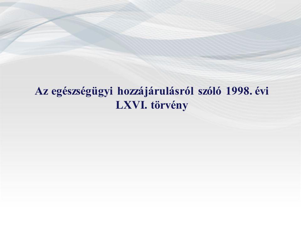 Az egészségügyi hozzájárulásról szóló 1998. évi LXVI. törvény