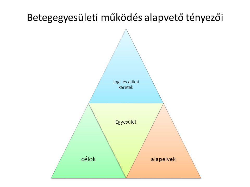 Egyéni érdekvédelem Betegek kollektív érdekvédelme Minimál program (tagtoborzás, érintettség alapú összetartozás) 1.NBF (Nemzeti Betegfórum) 2.BEMOSZ (Betegszervezetek Magyarországi Szövetsége) 1.NBF (Nemzeti Betegfórum) 2.BEMOSZ (Betegszervezetek Magyarországi Szövetsége)