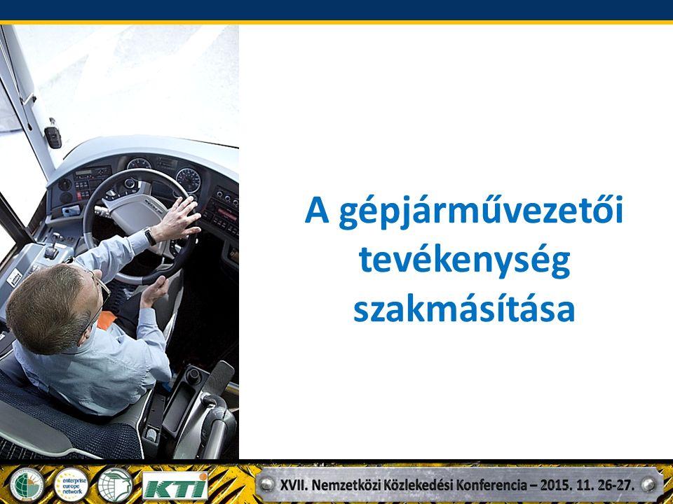 A gépjárművezetői tevékenység szakmásítása