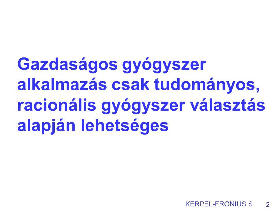 A klinikai döntéshozatal összetevői 3 Kerpel-Fronius S: Klinikai vizsgálatok bizonyítékai A beteg preferenciái és értékei Költségvetés Az orvos ismeretei és tapasztalatai A beteg klinikai állapota