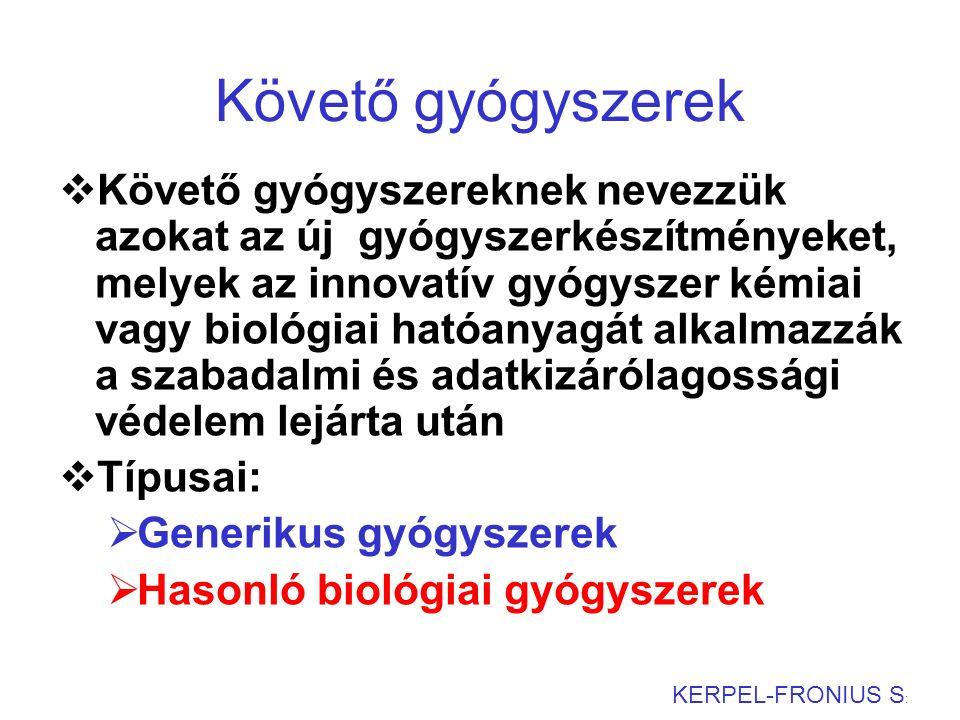 Erythropoetin elsődleges szerkezete 46 KERPEL-FRONIUS S