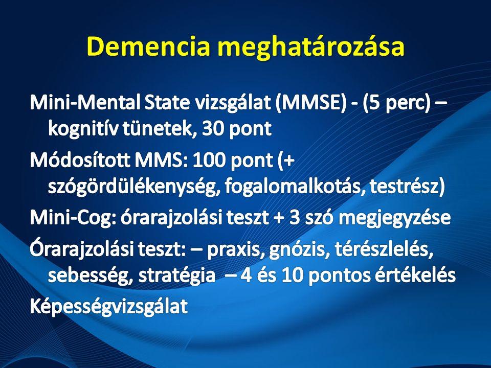 Demencia meghatározása
