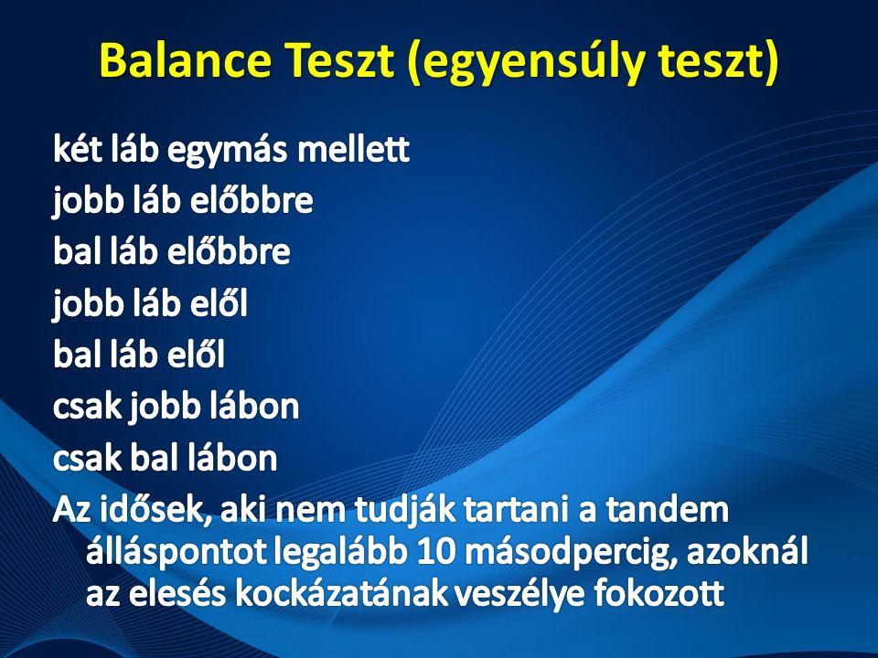 Balance Teszt (egyensúly teszt)
