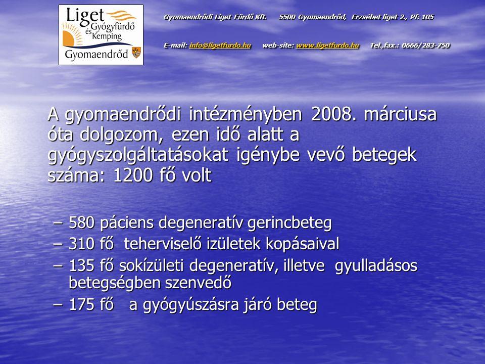 Gyomaendrődi Liget Fürdő Kft. 5500 Gyomaendrőd, Erzsébet liget 2., Pf: 105 E-mail: info@ligetfurdo.hu web-site: www.ligetfurdo.hu Tel.,fax.: 0666/283-
