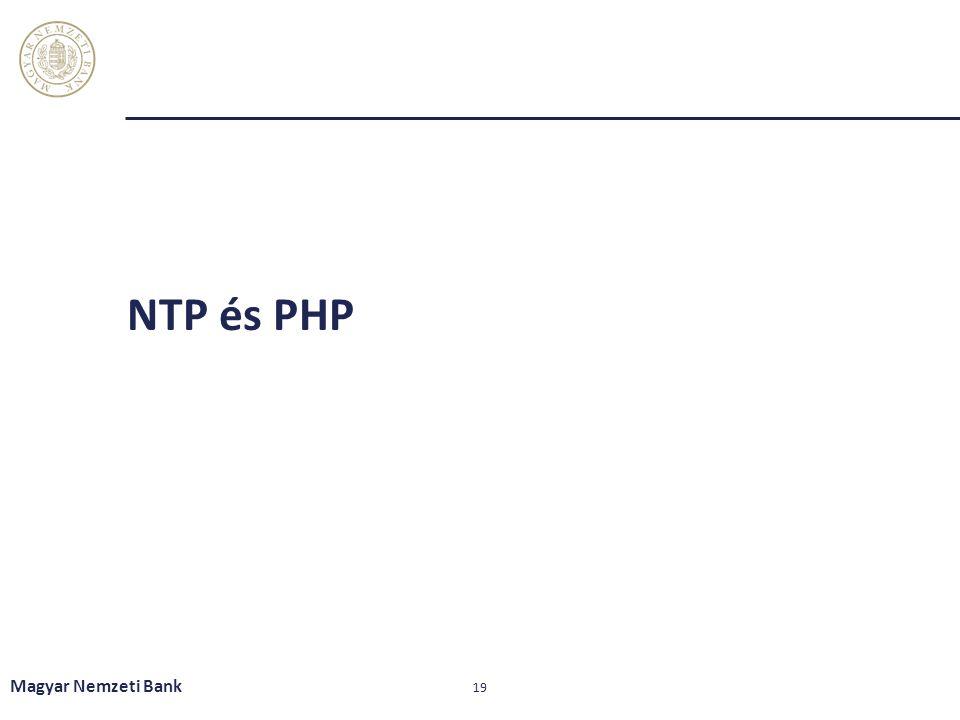NTP és PHP Magyar Nemzeti Bank 19
