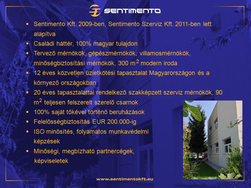  Sentimento Kft. 2009-ben, Sentimento Szerviz Kft.