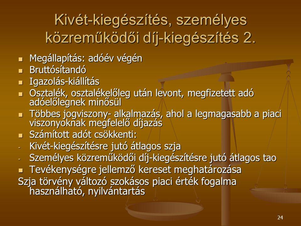24 Kivét-kiegészítés, személyes közreműködői díj-kiegészítés 2.