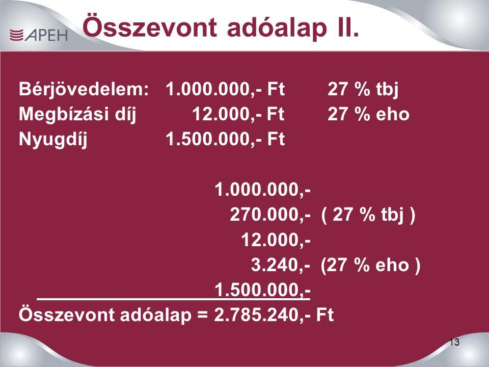 13 Összevont adóalap II.