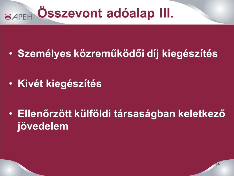 14 Összevont adóalap III.