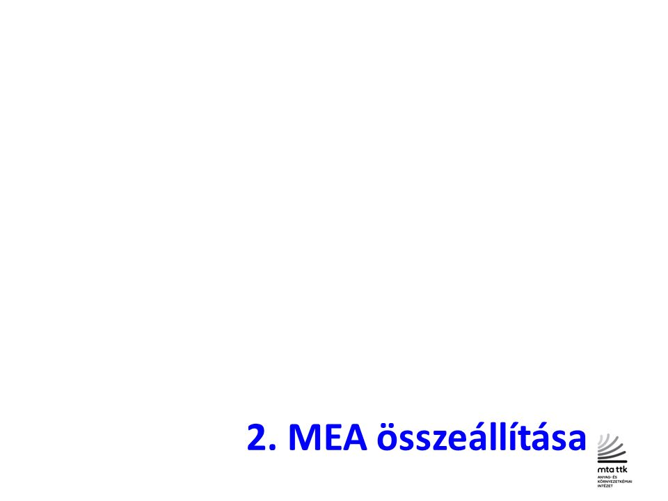 2. MEA összeállítása