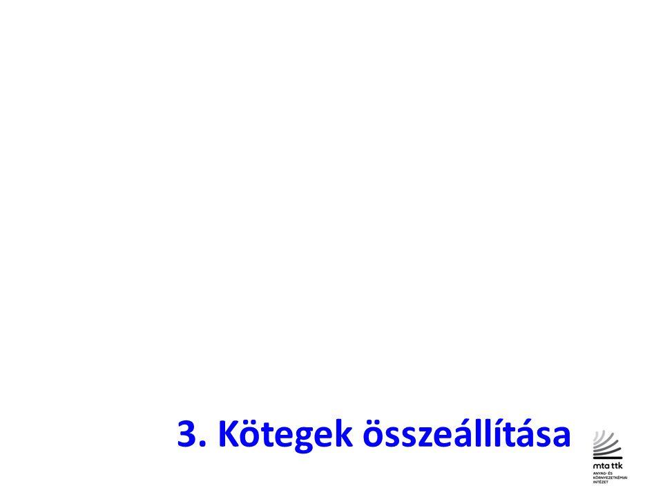 3. Kötegek összeállítása