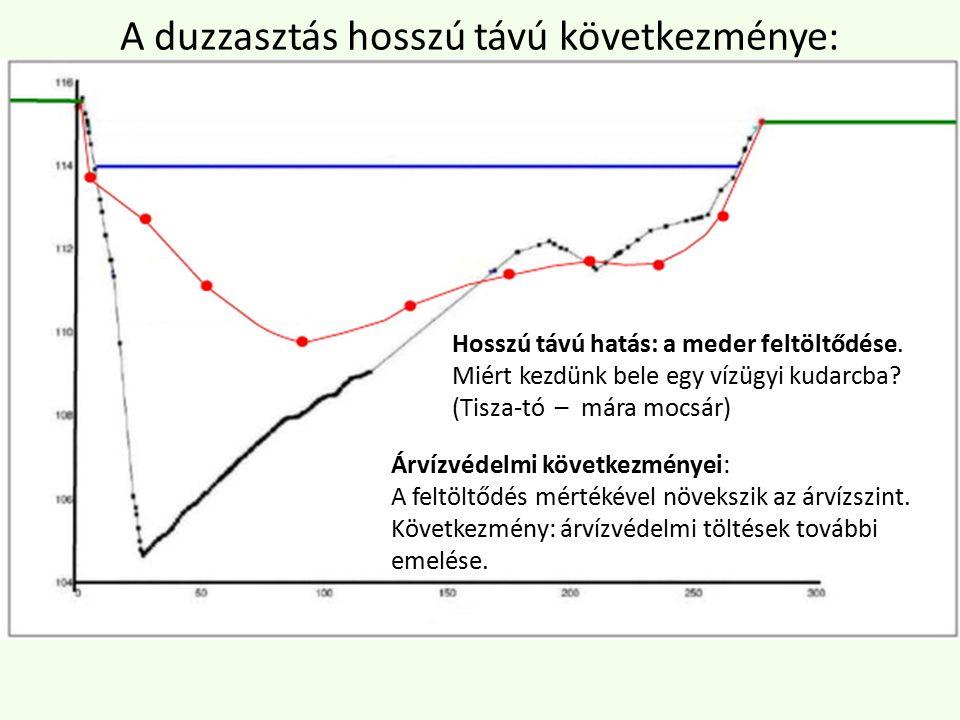 Árvízvédelmi következményei: A feltöltődés mértékével növekszik az árvízszint.