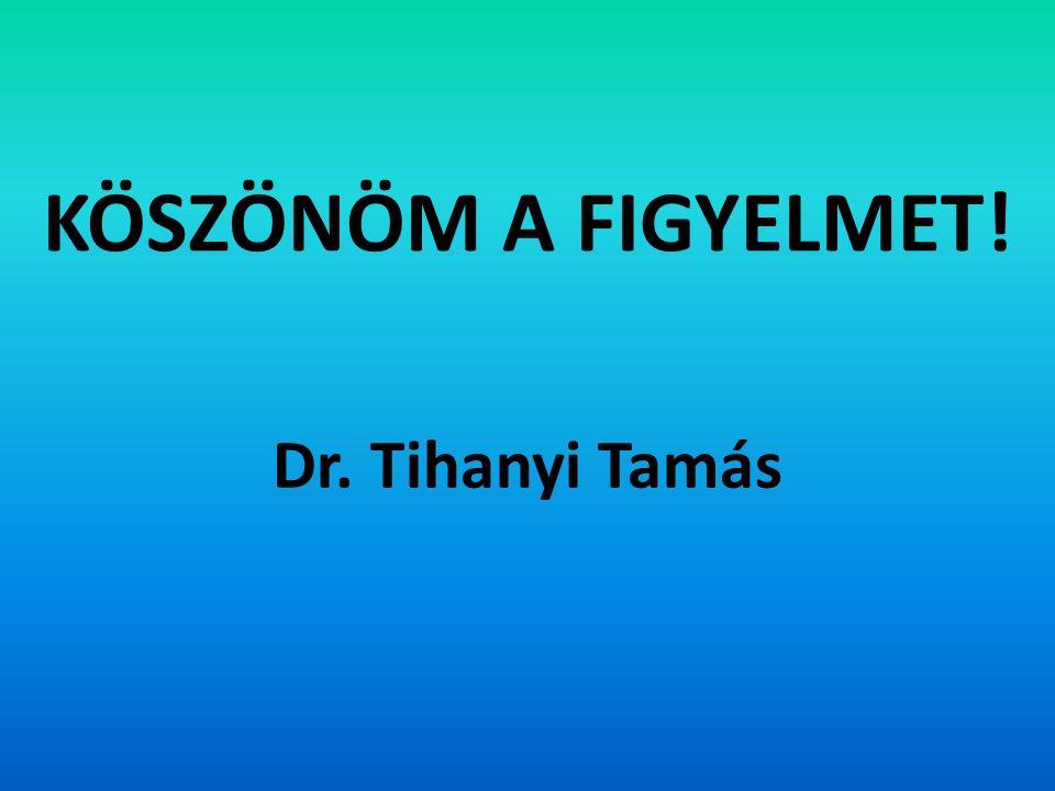 KÖSZÖNÖM A FIGYELMET! Dr. Tihanyi Tamás
