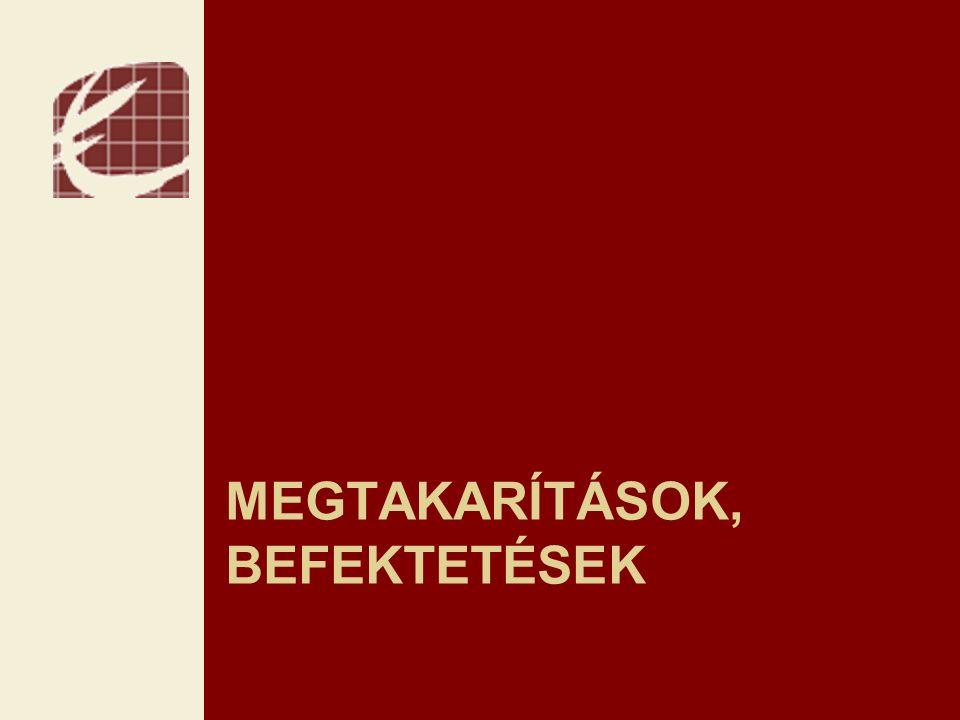 MEGTAKARÍTÁSOK, BEFEKTETÉSEK