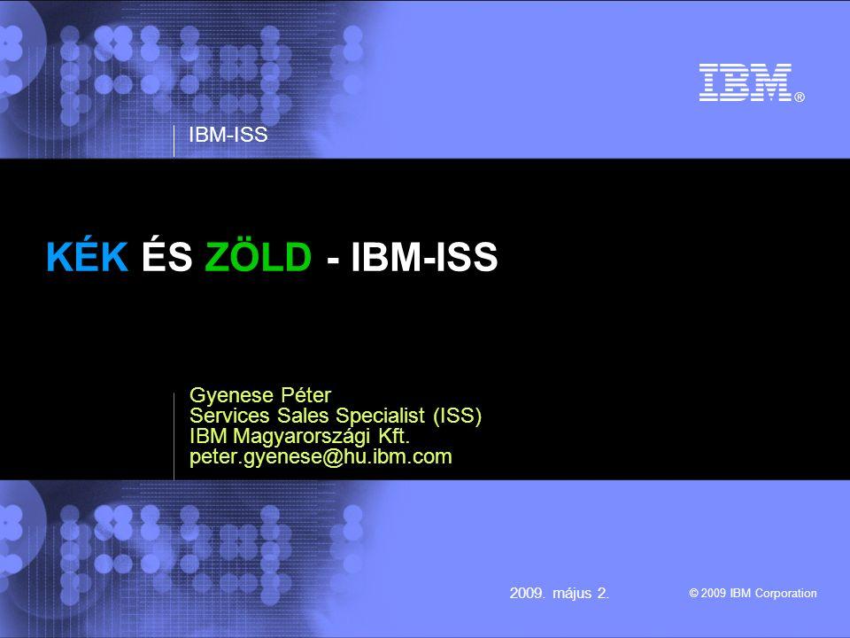 IBM - ISS © 2009 IBM Corporation 22009.május 2. Milyen rövidítést takar (esetünkben) az ISS.